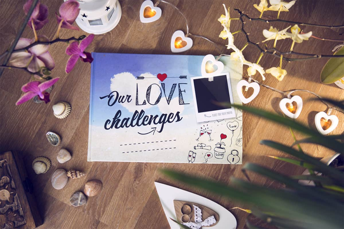 Our Love Challenges Interactive Scrapbook For Couples
